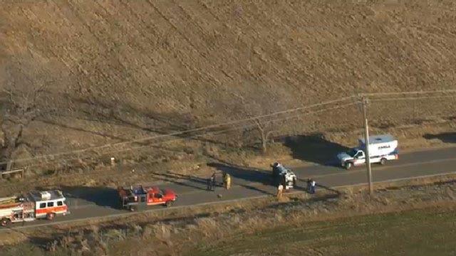 Emergency Crews Respond To Rollover Crash In Yukon
