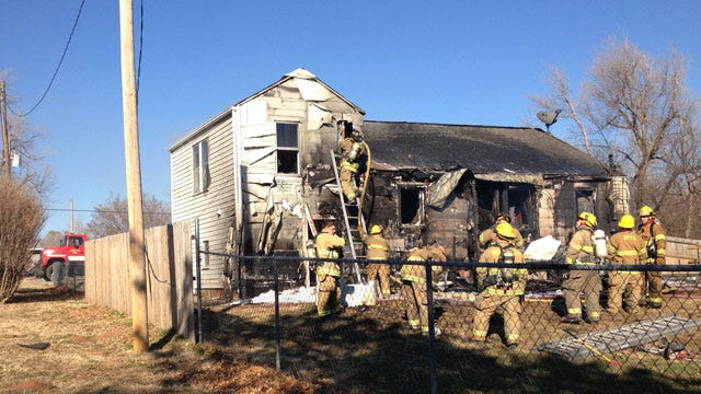 Crews Battle Fully-Involved House Fire In Nicoma Park