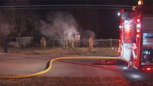 Suspicious Fire Destroys Midwest City House