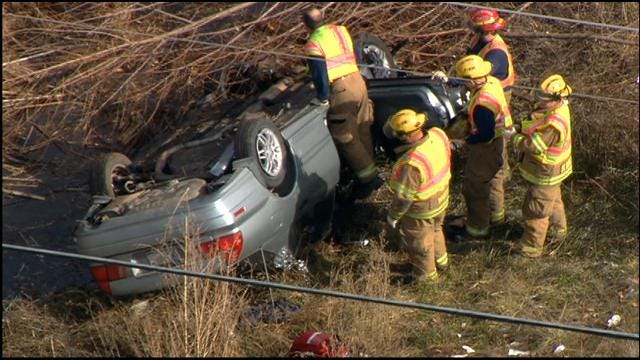 Rollover Crash In Midwest City Injures Two People