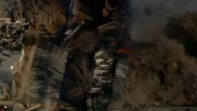 Crews Douse Fire At Abandoned NW OKC Apartment Complex