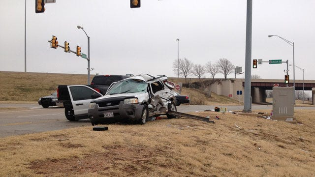 One Dead After Car Crash In Downtown OKC