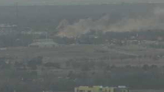 Firefighters Battle Blaze At NW OKC Business