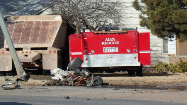 Alva Man Killed When Semi Crashes Into House