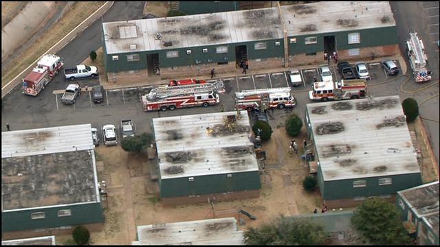 Crews Battle Apartment Fire In SW OKC