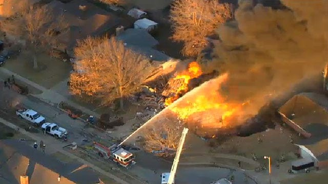 Explosion Levels Home In Southwest OKC