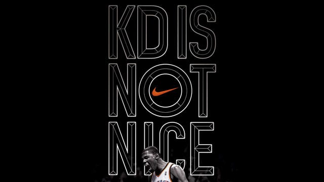 KD Is Not Nice, According To Nike