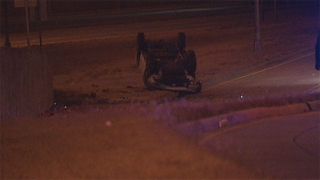 Man Critically Injured In Possible Alcohol-Related Crash In NW OKC