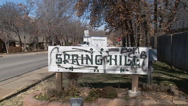 Vandals Strike Edmond Neighborhood With Spray Paint
