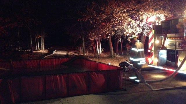 Edmond Fire Crews Battle House Fire