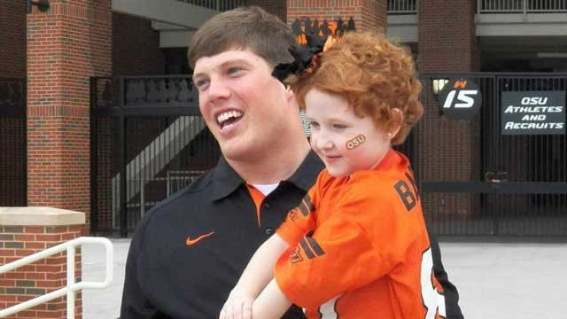 OSU Football Player Helps Metro Girl See Past Cancer Treatments