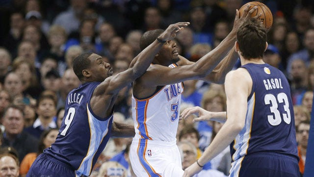 Hot Start Propels Thunder To Easy Win Over Short-Handed Grizzlies