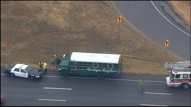 School Bus Involved In Accident Near I-35, 240