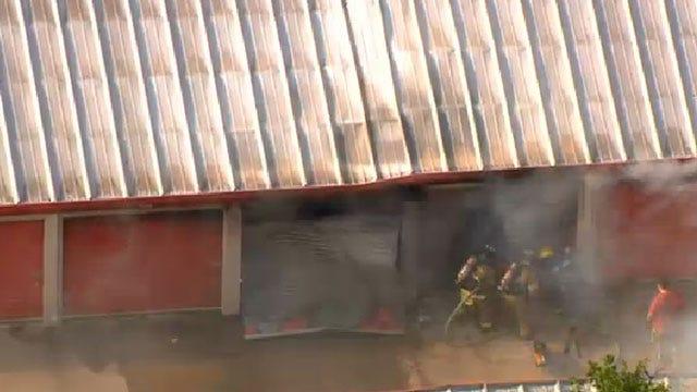 Crews Extinguish Fire At Storage Facility In Northwest OKC