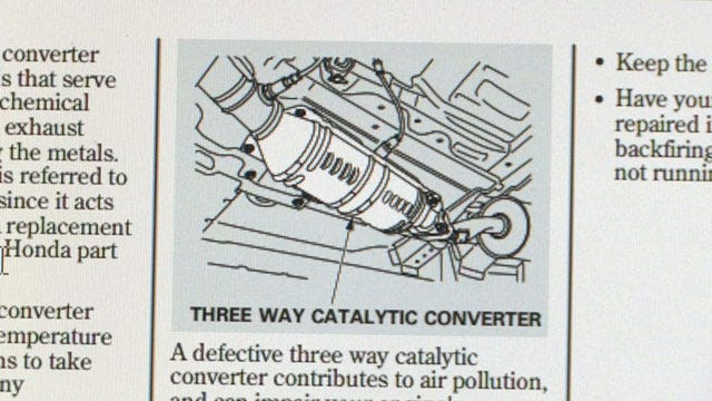 Catalytic Converter Theft On Rise With Certain Vehicles