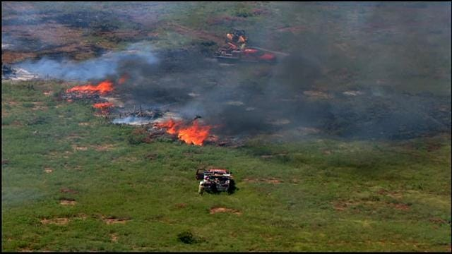 Controlled Burn Turns Out-Of-Control In NW OKC