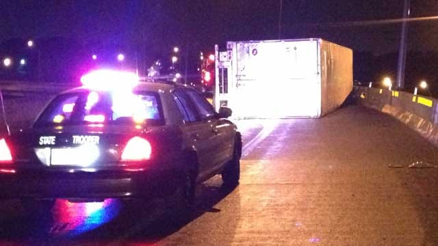 All Lanes Open After Semi Rolls On I-44, Spilling Frozen Chicken