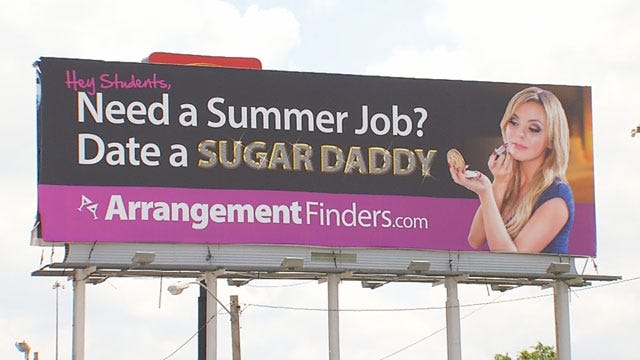 Controversial 'Sugar Daddy' Billboard Ruffles Feathers In OKC