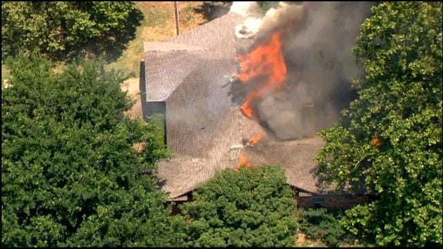 Fire Rages Through Home In Yukon
