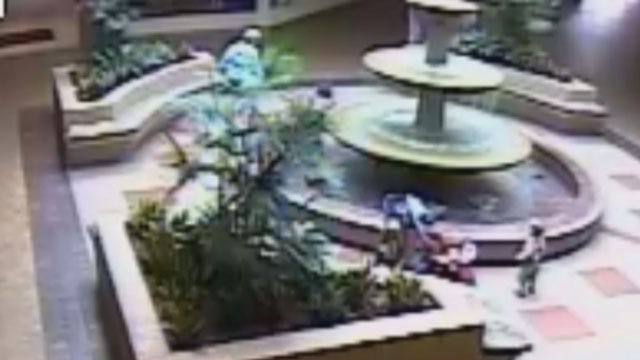Amanda Taylor Saves Child As He Falls Into Mall Fountain