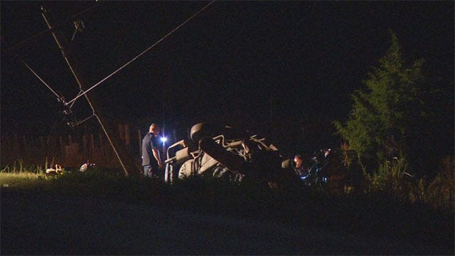 Fatal Crash Knocks Out Power In SW OKC