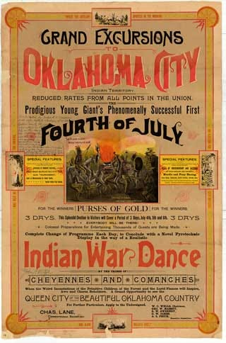 Oklahoma History Center Uncovers Rare 1889 Fourth Of July Poster