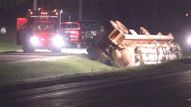 Rollover Crash Slows Traffic In Logan County