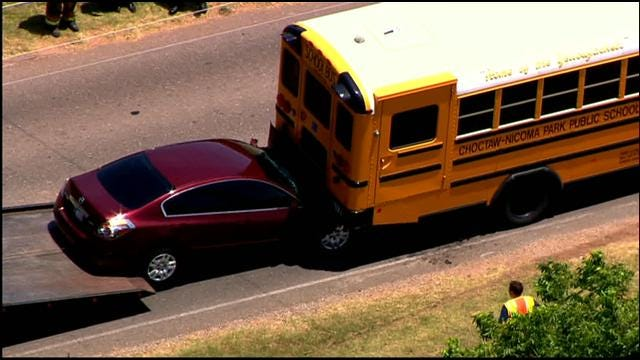 Crews On Scene Of School Bus Accident In Midwest City