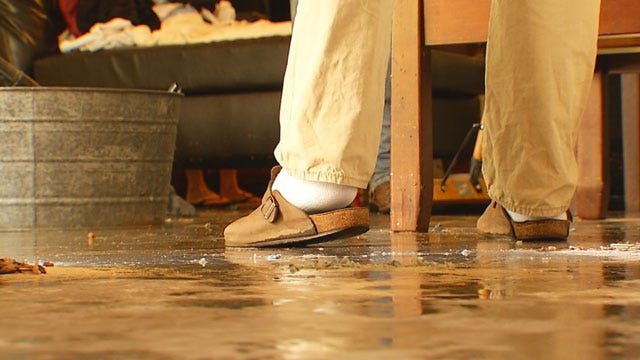 Flooding Damages Businesses, Homes In Downtown OKC