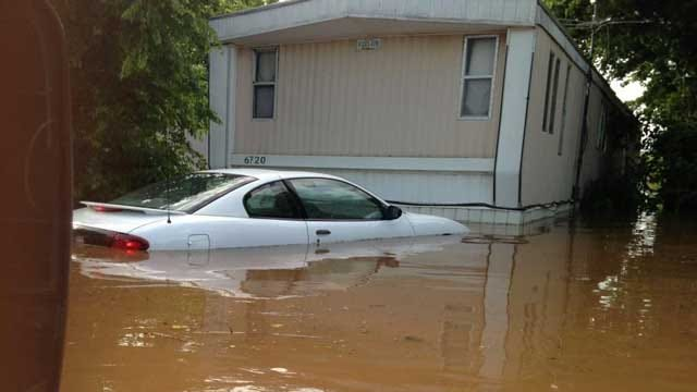 OKC Trailer Park Evacuated Due To Flooding; Authorities Seek Missing Man
