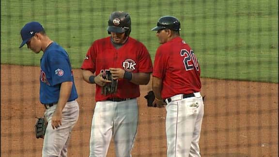 Bogusevic's Pair Of Homers Leads Iowa Past RedHawks