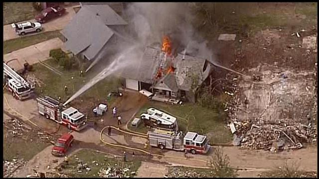 Crews Battle Fully-Involved House Fire In Moore
