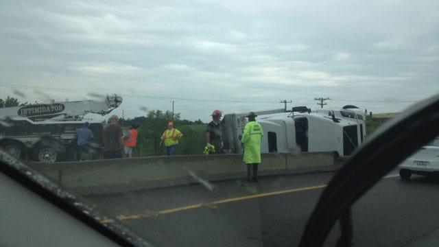 Injury Crash Involving Semi Shuts Down EB I-44 Near Luther
