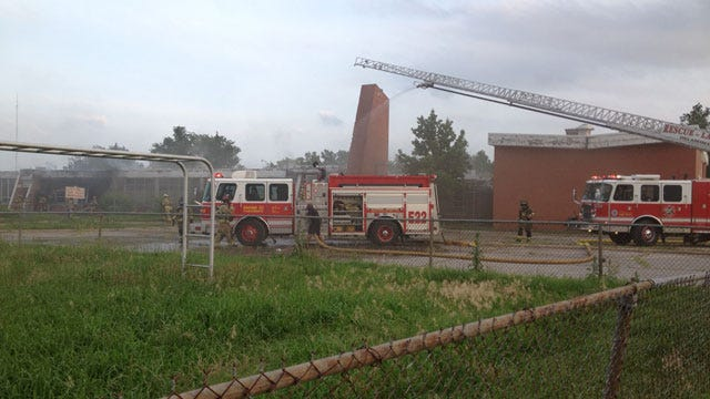 Old Gateway Academy Catches Fire Again