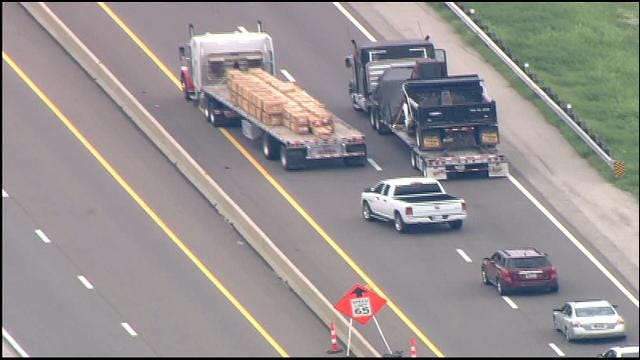 Turner Turnpike Reopened Near Luther Exit After Semi Hits Bridge
