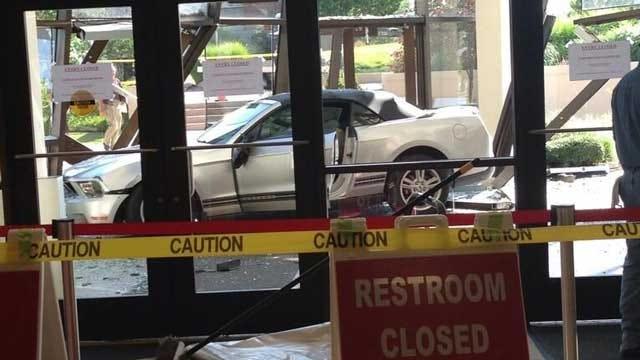 Car Slams Into Building On OKC College Campus