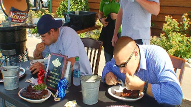 Oklahomans Take Part In Rib-Eating Contest Benefiting Tornado Victims