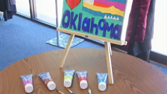 Painting Fundraiser Held To Benefit Moore School District