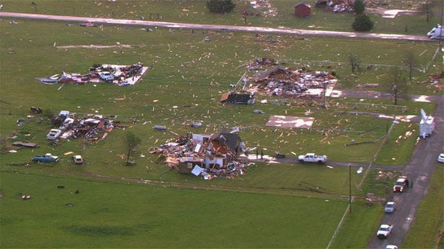 El Reno Sets Up Relief Centers, Trash Removal After Deadly Storms