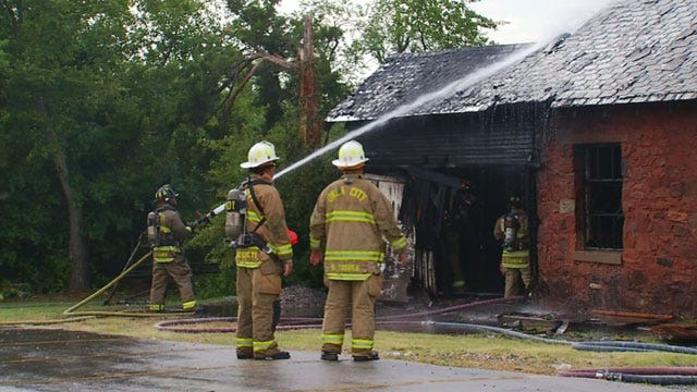 Crews Douse Fire At Abandoned Home In Northeast OKC