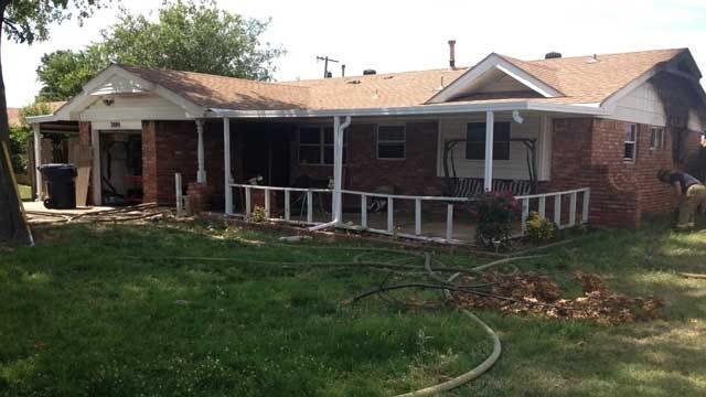 Fire Crews Extinguish House Fire In Southwest OKC
