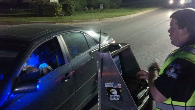Hundreds Of Cars Pass Through OK Sheriff's Dept. DUI Checkpoint