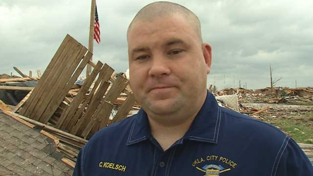 OKC Police Officer Helps Others Despite Losing Home In Tornado
