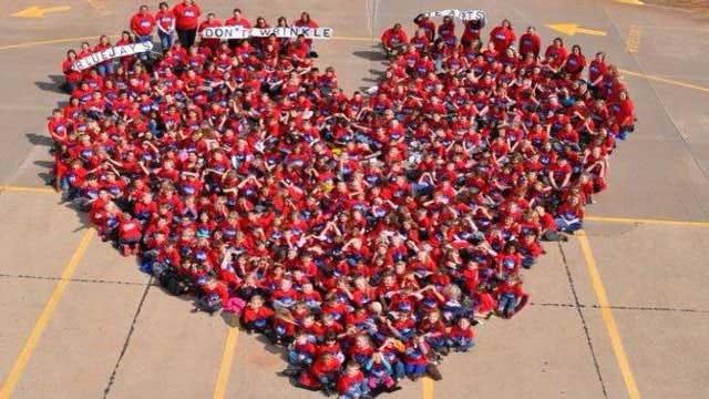 Barnes Elementary Children Form Heart To Raise Awareness Of Kindness