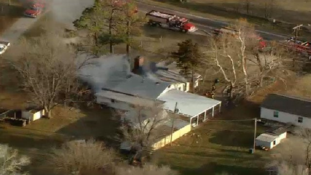 OKC, Jones Fire Crews Douse House Fire