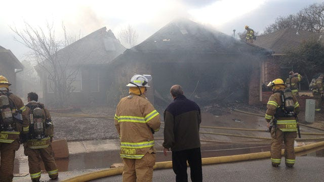 Woman Escapes Edmond House Fire