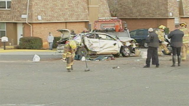 Police Chase Ends With Rollover Crash In Midwest City