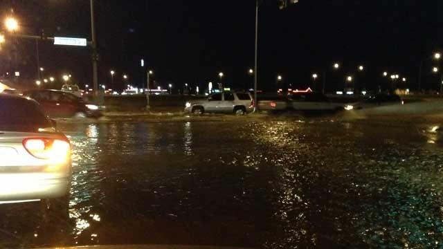 All Lanes Open After Water Main Break In Norman