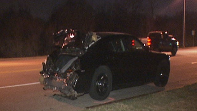 Man Arrested For DUI After Crashing Into Officer's Car In Mustang