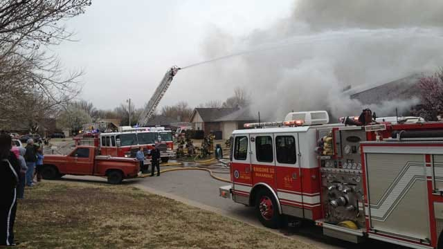 NW OKC Duplex Fire Started By Smoldering Ashes In Trash Can